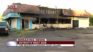Fire destroys Lakeside Coney Island in Detroit