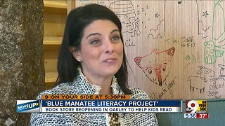 Beloved bookstore reopens as Blue Manatee Literacy Project