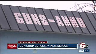 Multiple firearms stolen from Anderson gun shop after suspects drive through wall of building - Video