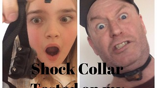 Dad tests out shock collar, goes horribly wrong - Video