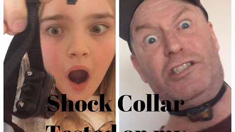 Dad tests out shock collar, goes horribly wrong