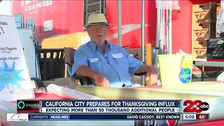 More than 50,000 people expected to travel to California City for Thanksgiving holiday - Video