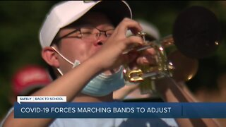 High school marching bands feel impact of pandemic heading into football season