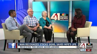 Man recognizes stroke signs, saves wife's life