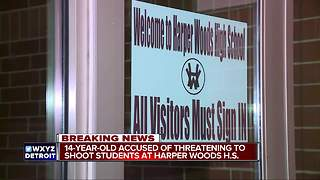 Harper Woods teen in police custody, accused of threatening shooting at school - Video