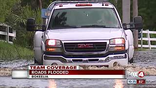 Bokeelia roads flooded after a day of heavy rain
