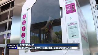 Air-conditioned dog houses now outside metro Detroit restaurants