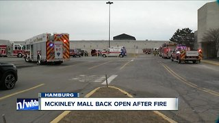 Crews battle early morning fire inside McKinley Mall