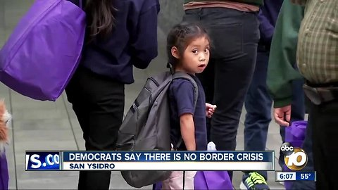 Democrats say there is no border crisis in tour