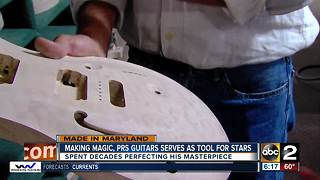 Making magic, a PRS guitar is the tool of the stars - Video