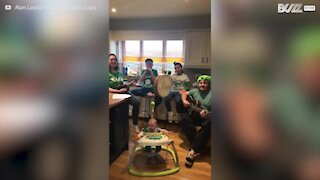 Quarantine doesn't stop Irish family celebrating St. Patrick's Day!