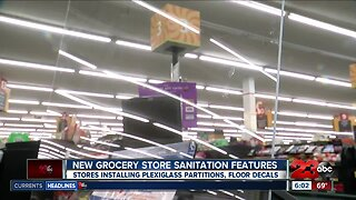 New grocery store sanitation features