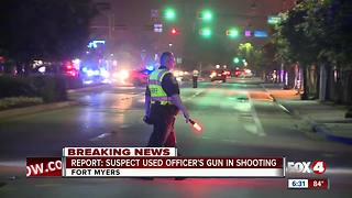 Report: Suspect used officer's gun in shooting