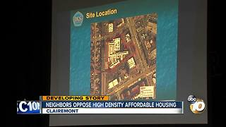 Clairemont residents oppose affordable housing building