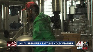 Local breweries battling cold weather - Video