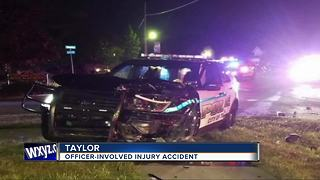 Taylor police officer involved in injury accident - Video