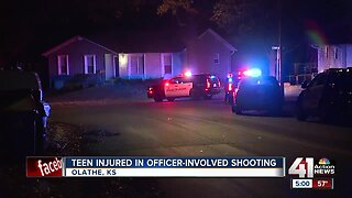 Olathe teen injured in officer-involved shooting