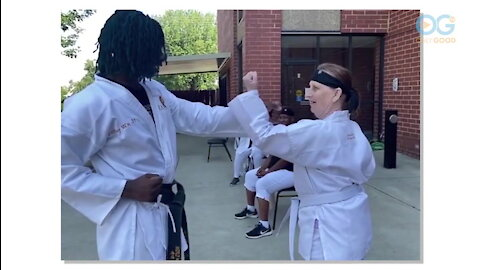 Teaching SuperNanas & Papas Art of Karate and Connection - OG Sports with Scott Stanford