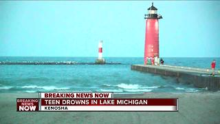 18-year-old drowns in Kenosha in Lake Michigan - Video