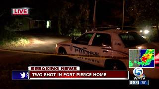Double shooting injures two people at Fort Pierce home