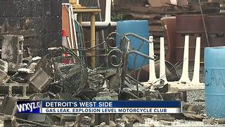 Explosion destroys Detroit motorcycle club building - Video