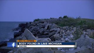 Officials in Racine County working to identify body of man found on Lake Michigan shore Sunday - Video