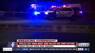 Police say man killed father - Video