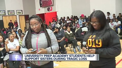 Teen sisters grieving loss of parents, cherish love and support from school