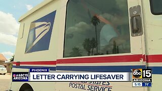 Phoenix letter carrier helps save woman's life