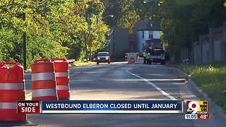 Westbound Elberon closed until at least January 2020