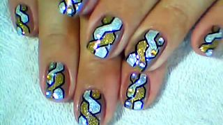 How to create woven braided nail art - Video