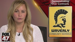 Waverly teachers speak out about lack of contract - Video