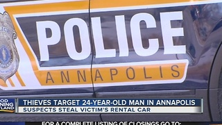 Man robbed after taking out the trash in Annapolis - Video