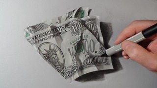 How to draw one million dollar bill - Video