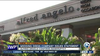 Alfred Angelo issues statement after filing for bankdruptcy - Video