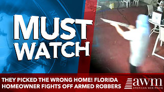 They picked the wrong home! Florida homeowner fights off three armed robbers - Video
