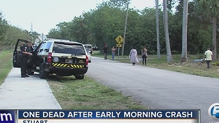 1 dead, 1 hospitalized after Stuart crash - Video