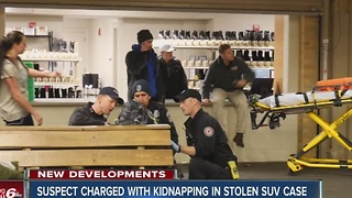 Kidnapping charges filed in case of stolen SUV - Video