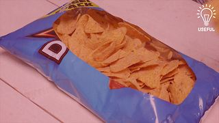 Turn a bag of chips into a party bowl - Video