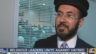 Religious leaders unite against hatred - Video