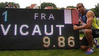 Sprinter Jimmy Vicaut Equals 100 m European Record In 9.86 sec - Video