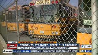 Parent claims students stranded after bus no-show