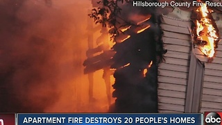 French fries left frying on stove cause two-alarm fire at Tampa apartment complex - Video