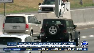HOV lanes, funding are popular questions in CDOT telephone town halls - Video