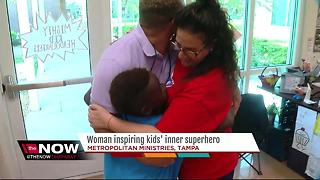 Woman inspiring kids' inner superhero - Video