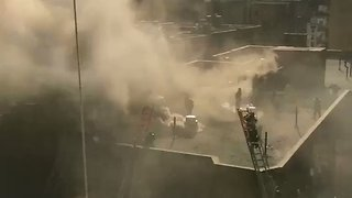 Five-Alarm Fire Tears Through Greenwich Village Apartment Building - Video