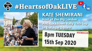Livestream with Kate Shemirani 15.9.20