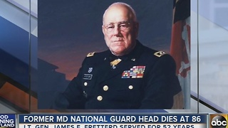 Former Md. National Guard head dies at 86 - Video