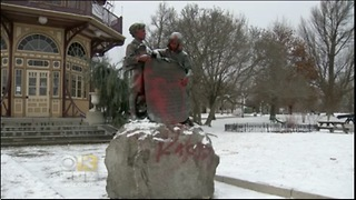 100-Year-Old Star Spangled Banner Monument Vandalized In Baltimore, MD - Video