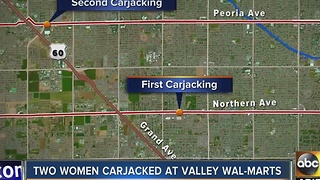 Women targeted by car thieves at Valley Walmart stores - Video